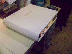 Finished wedding album bound for display