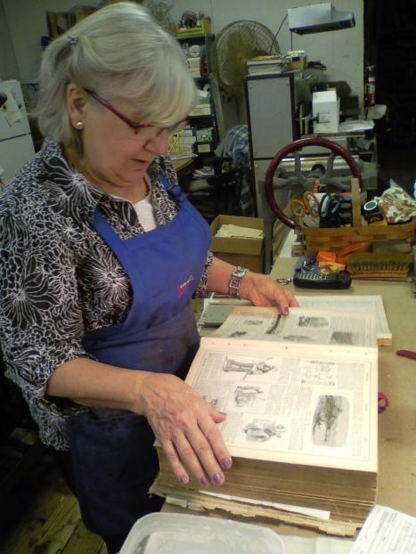 Margit Rahill our lead restoration person
